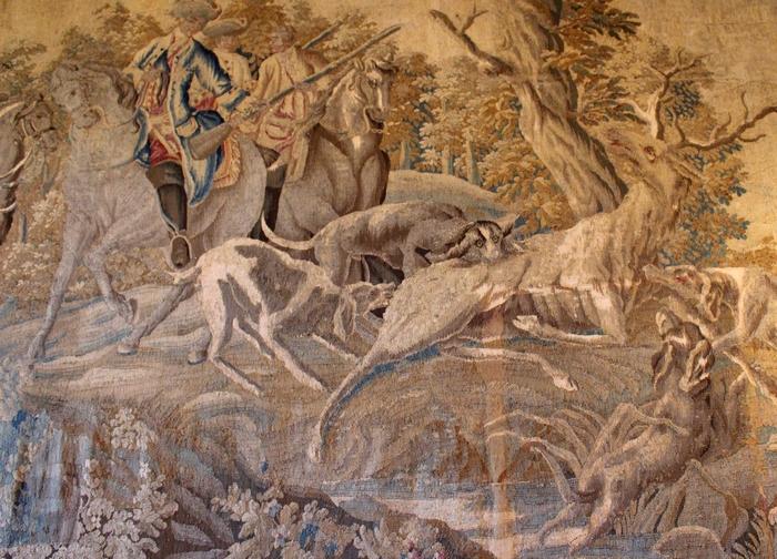 Tapisserie d'Aubusson (XVIIIe s.), exposée au château d'Azay-le-Ferron (Photo : courtoisie) - www.chateau-azay-le-ferron.com