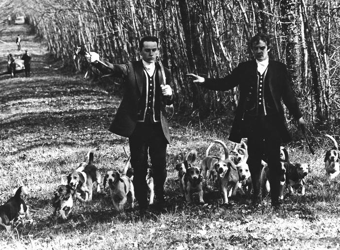 9 février 1975 - Max Delacommune et Philippe Verro - Photo de Georges Hallo - Don de M. J.-G. Hallo à la Société de Vènerie