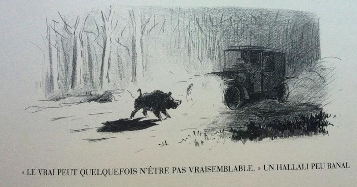 Hallali - Rallie Bourbonnais - Illustration tirée de l'ouvrage La Vénerie française contemporaine (1914) - Le Goupy (Paris)