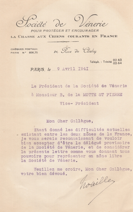 Correspondance - Seconde Guerre mondiale