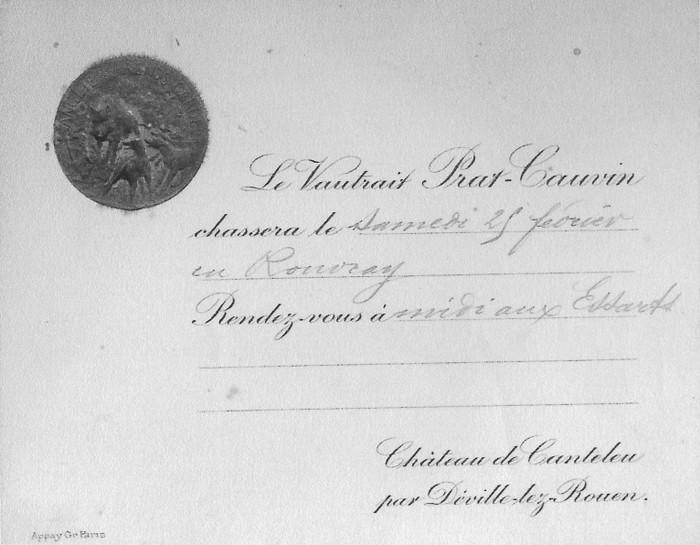 Collection particulière - Don à la Société de Vènerie - M. M. Berge - Prat-Cauvin