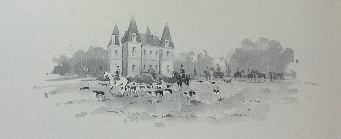 Equipage de Vioreau - Illustration tirée de l'ouvrage La Vénerie française contemporaine (1914) - Le Goupy (Paris)
