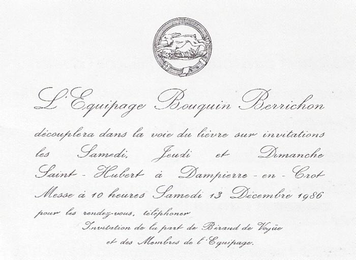 Equipage Bouquin Berrichon - Tiré de l'ouvrage Deux Siècles de Vènerie à travers la France - H. Tremblot de la Croix et B. Tollu (1988)
