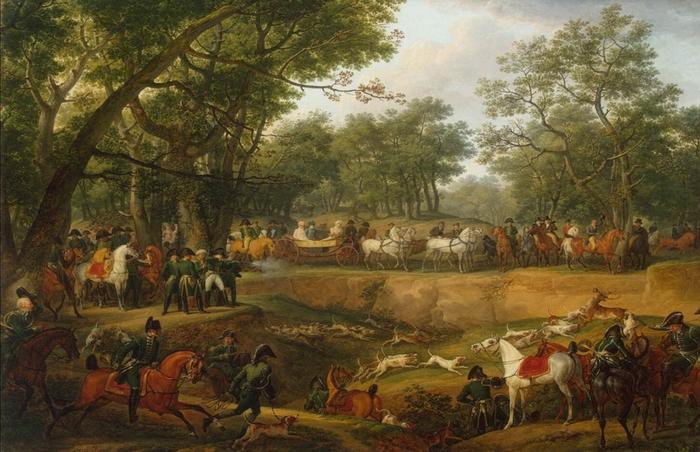 Chasse de S. M. l'Empereur au bois de Boulogne - 1811 - Société de Vènerie