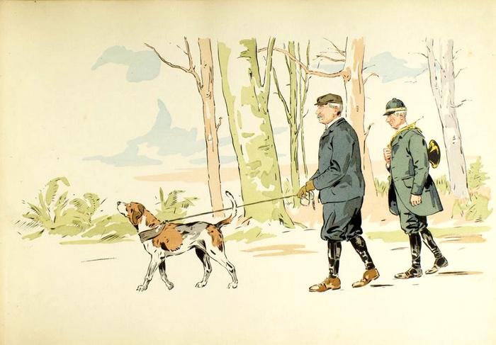 Illustration de Philippe Roque tirée de de l'ouvrage L'Equipage du Francport paru en 1910 - Société de Vènerie (4)