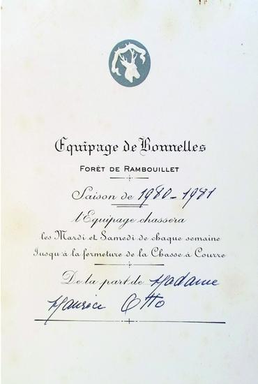 Archives Montpoupon - Equipage de Bonnelles Rambouillet