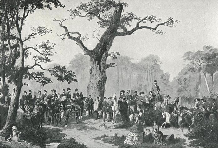 La Famille de Luynes - Illustration tirée de l'ouvrage La Chasse à travers les Âges - Comte de Chabot (1898) - A. Savaète (Paris) - BnF (Gallica)