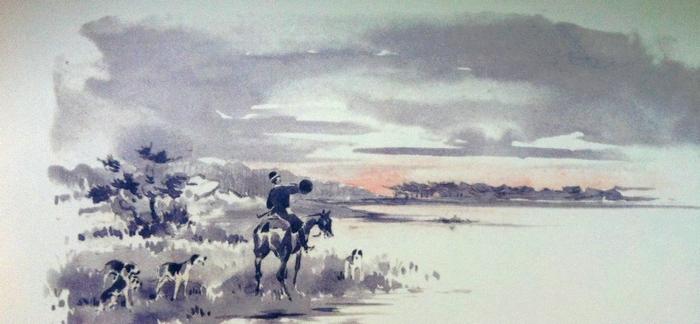 L'Equipage de Paimpont - Illustration tirée de l'ouvrage La Vénerie française contemporaine (1914) - Le Goupy (Paris)