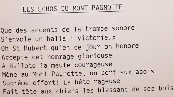 Paroles des Echos du Mont Pagnotte (2)