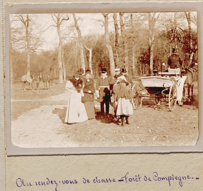 Un rendez-vous à Compiègne en novembre 1896 - Don de M. Ph. de Champeaux à la Société de Vènerie