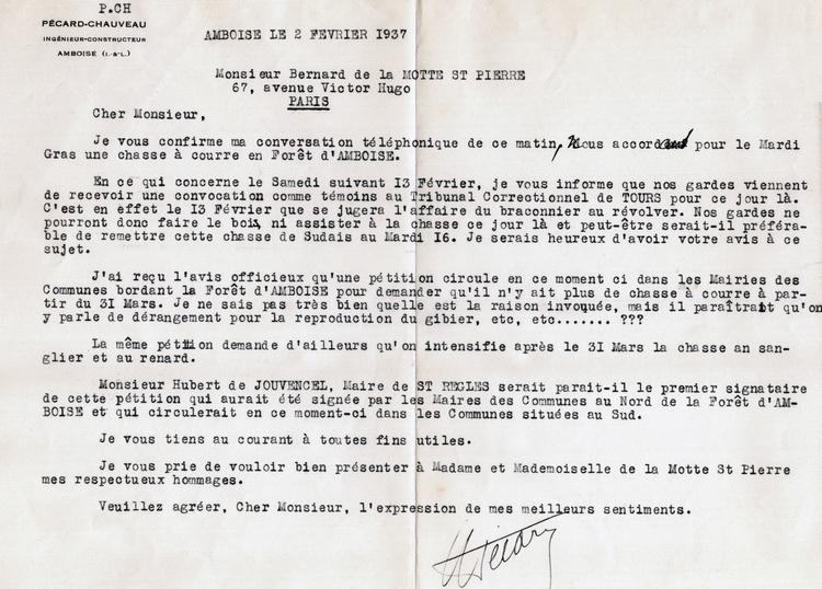 Correspondance de 1937
