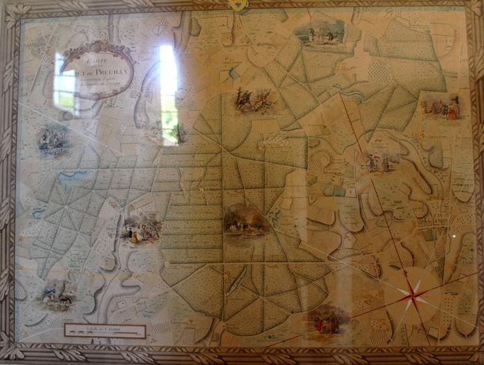 Plan de la forêt de Preuilly, exposé au château d'Azay-le-Ferron (Photo : courtoisie) - www.chateau-azay-le-ferron.com