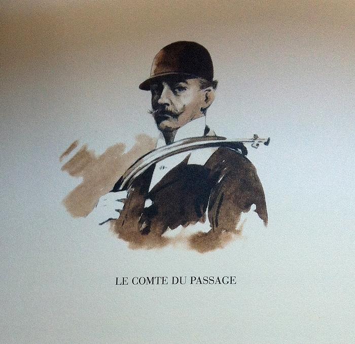 Le comte du Passage - Illustration tirée de l'ouvrage La Vénerie française contemporaine (1914) - Le Goupy (Paris)