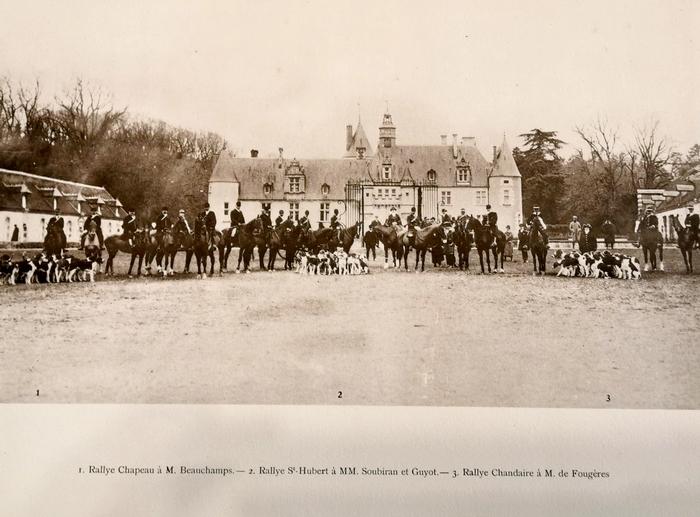 Dans le Cher en mars (1925) - Rallie Saint-Hubert, Equipage Beauchamps, Equipage de Chandaire - Don à la Société de Vènerie
