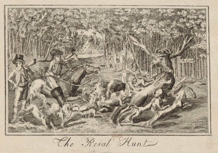 The Roial Hunt - Caricature anglaise - 1790 - BnF