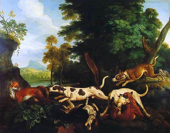 Chasse aux renards - 1719 - © Joconde - Senlis - Musée de la Vènerie - Francis Vidal