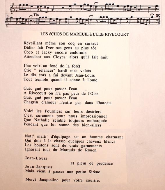 Paroles des Echos de Mareuil (2)