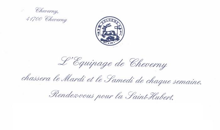 Carton d'invitation - Archives de l'équipage