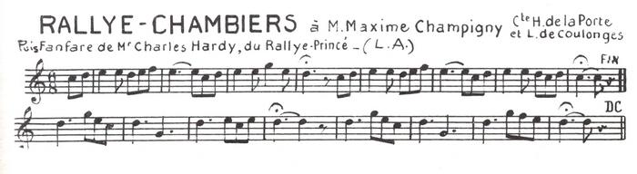 La Rallye Chambiers