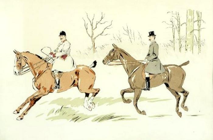 Illustration de Philippe Roque tirée de de l'ouvrage L'Equipage du Francport paru en 1910 - Société de Vènerie (9)