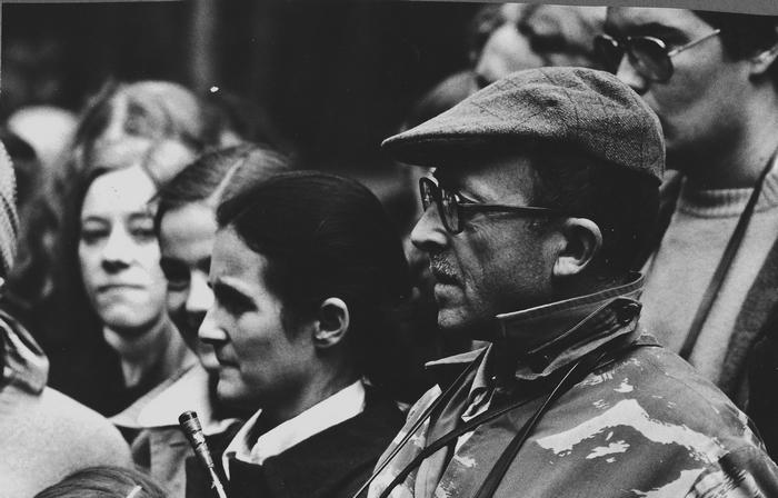 Saison 1975-1976 - Mme Mouret de Lotz et George Hallo - Don de M. J.-G. Hallo à la Société de Vènerie