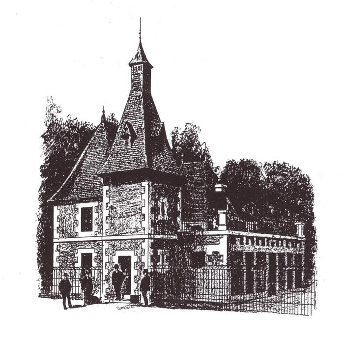 Le chenil de Baudiment - Tiré de l'ouvrage Deux Siècles de Vènerie à travers la France - H. Tremblot de la Croix et B. Tollu (1988)
