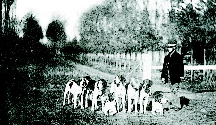 Théodore et son relais - Don de M. A.-P. Baudesson à la Société de Vènerie