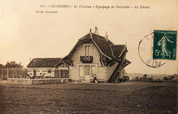 Carte postale (1900-1914) - Don à la Société de Vènerie - Equipage Chézelles