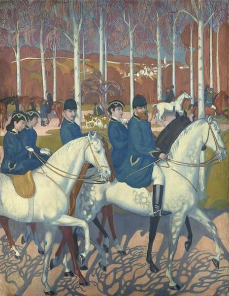 La Légende de Saint-Hubert : les Cochin - © RMN-Grand Palais Benoît Touchard - Saint-Germain-en-Laye, musée Maurice Denis. Tableau destiné à orner le