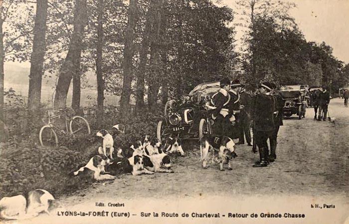 Carte postale (1900-1914) - Société de Vènerie - Equipage Olympe Hériot