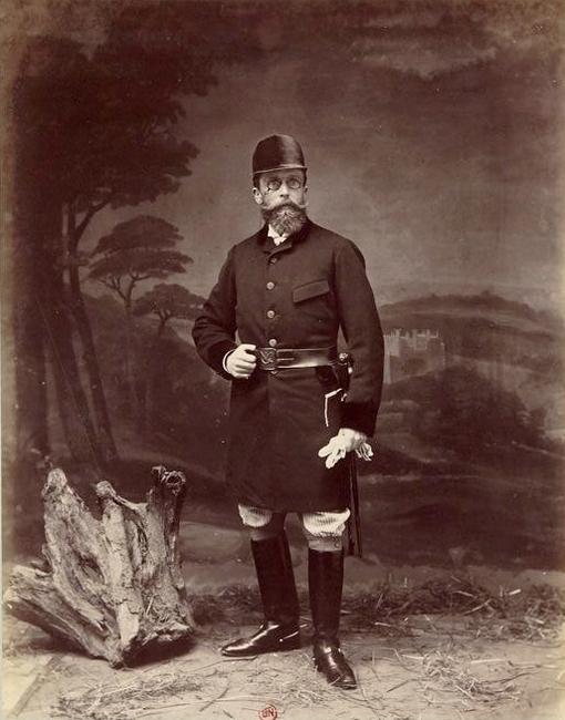 Monsieur P. Blache - Tiré de l'ouvrage L'Equipage du marquis de Chambray - Photos de Maurice de Gasté (1894) - Bnf (Gallica)