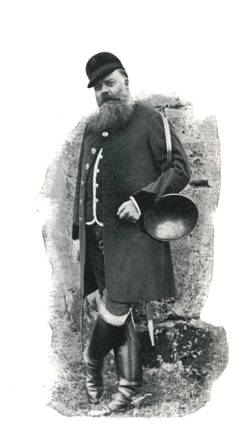 Le vicomte Henry d'Onsembray - Illustration tirée de l'ouvrage La Chasse à travers les Âges - Comte de Chabot (1898) - A. Savaète (Paris) - BnF (Galli