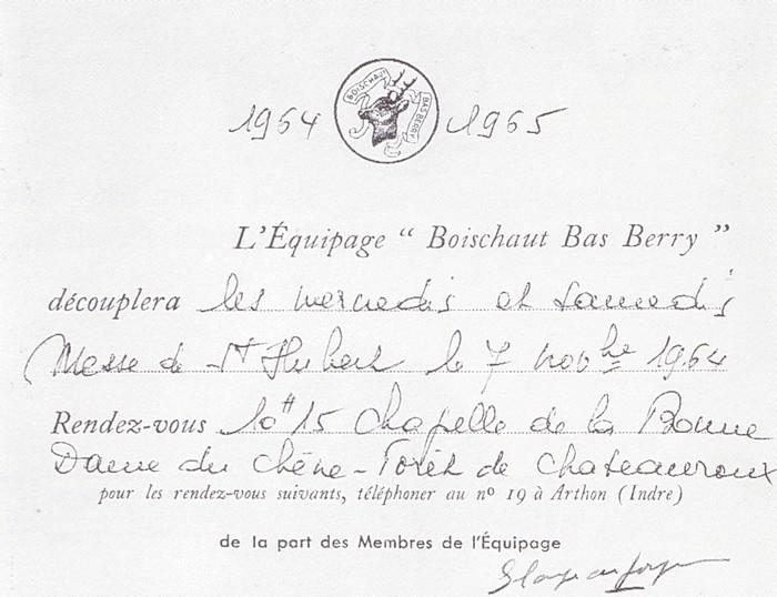 Equipage Boischaut Bas Berry - Tiré de l'ouvrage Deux Siècles de Vènerie à travers la France - H. Tremblot de la Croix et B. Tollu (1988) - 2