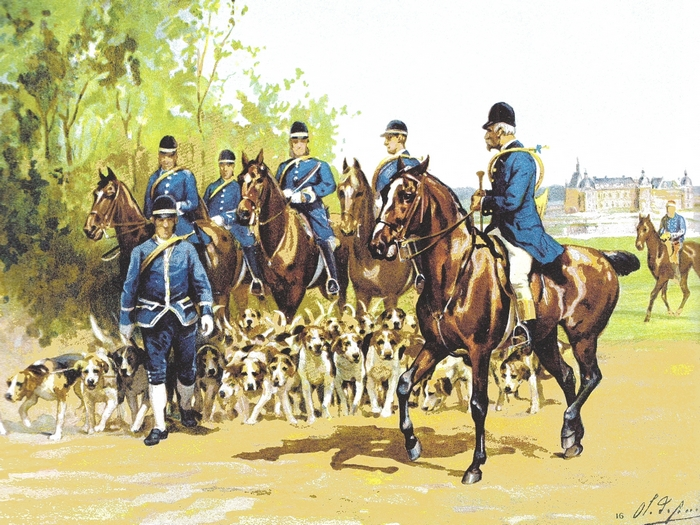 L'équipage du Duc d'Aumale par de Penne - Tiré de l'Armorial du baron de Vaux - Société de Vènerie