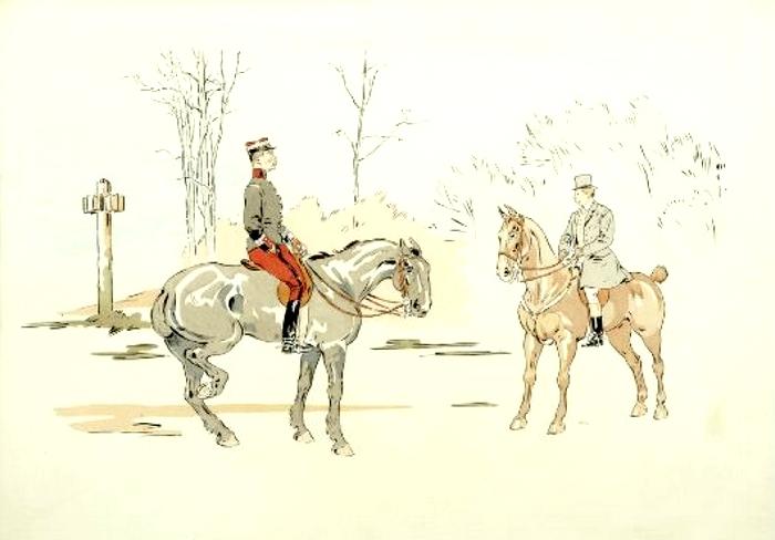 Illustration de Philippe Roque tirée de de l'ouvrage L'Equipage du Francport paru en 1910 - Société de Vènerie (2)