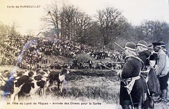 Curée en Rambouillet - Don à la Société de Vènerie