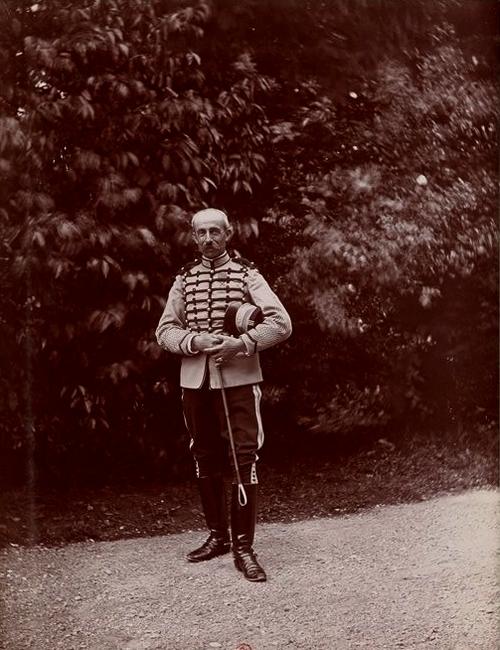 Le colonel Piolant - Tiré de l'ouvrage L'Equipage du marquis de Chambray - Photos de Maurice de Gasté (1894) - Bnf (Gallica)