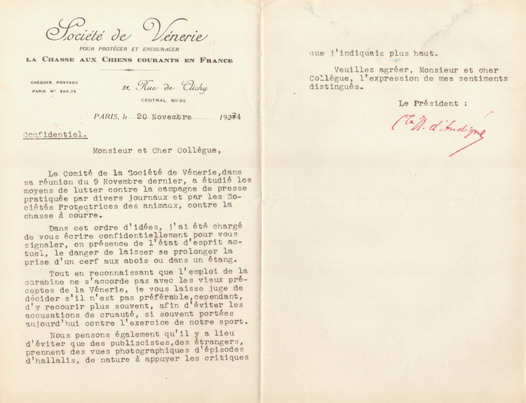 Correspondance - 1934