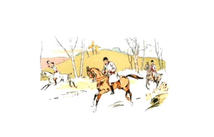 Illustration de Philippe Roque tirée de de l'ouvrage L'Equipage du Francport paru en 1910 - Société de Vènerie (7)