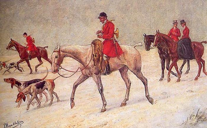 Retour de chasse au loup - 1875 (?) - © Joconde - Senlis - Musée de la Vénerie