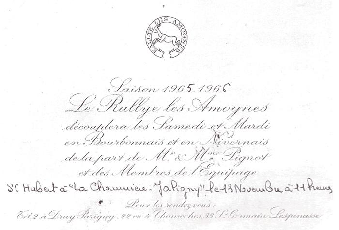 Rallye Les Amognes - Tiré de l'ouvrage Deux Siècles de Vènerie à travers la France - H. Tremblot de la Croix et B. Tollu (1988)