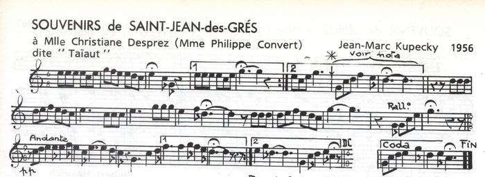 Souvenirs de Saint-Jean-des-Grés
