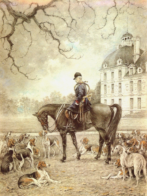 Xavier de Poret - Le marquis de Vibraye - Cheverny - Société de Vènerie
