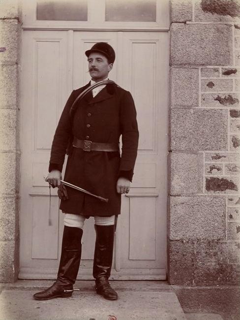 Le baron Dillon Corneck - Tiré de l'ouvrage L'Equipage du marquis de Chambray - Photos de Maurice de Gasté (1894) - Bnf (Gallica)