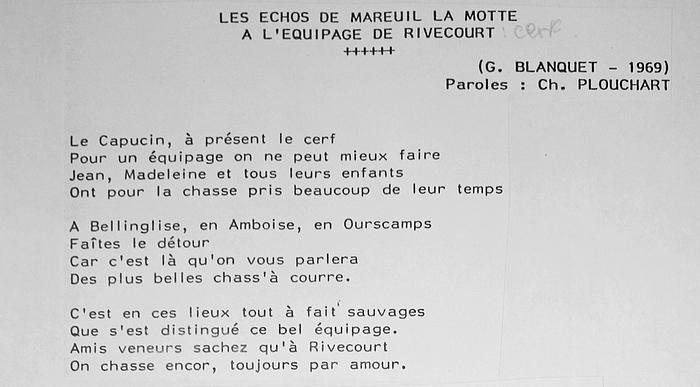Paroles des Echos de Mareuil