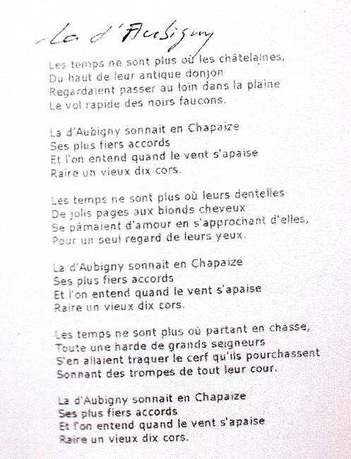 Paroles de La D'Aubigny