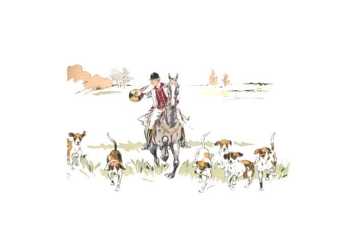 Illustration de Philippe Roque tirée de de l'ouvrage L'Equipage du Francport paru en 1910 - Société de Vènerie (6)