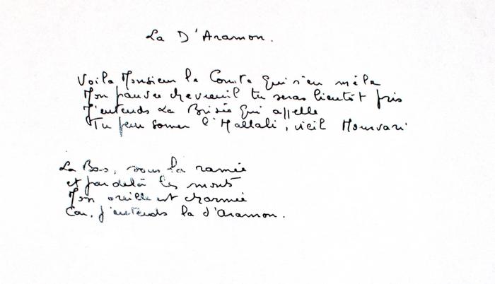 Paroles de La D'Aramon (2)