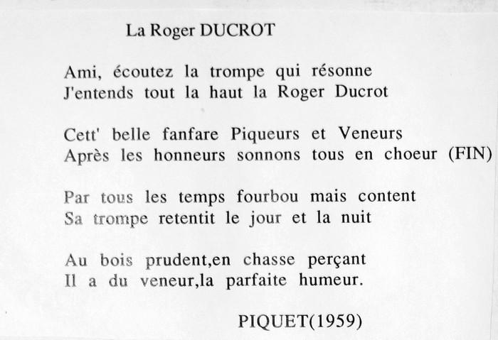 Paroles de la Roger Ducrot