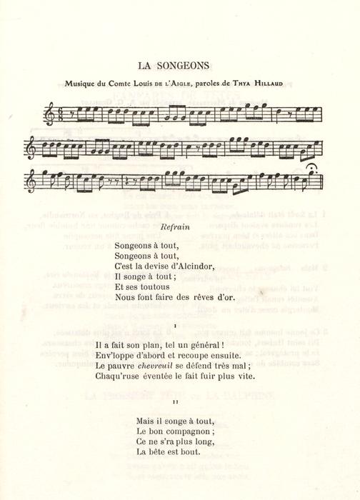 La Songeons - Version du comte de L'Aigle
